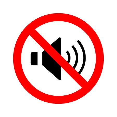 contaminacion acustica: No Altavoz signo vector