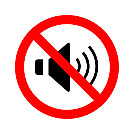loud noise: Not Speaker sign vector