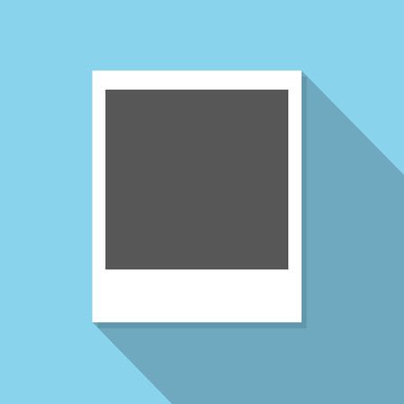 snaps: Photo frame sign vector Illustration
