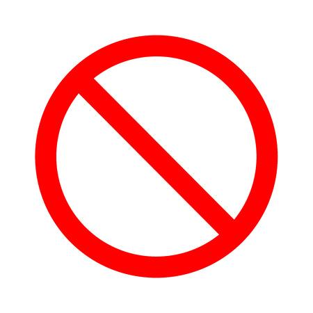 Nicht erlaubt Zeichen Vektor