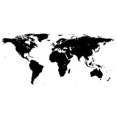 黒、白の世界地図