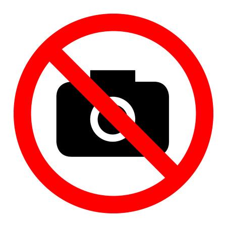 Keine Kamera-Vektor-Zeichen Illustration