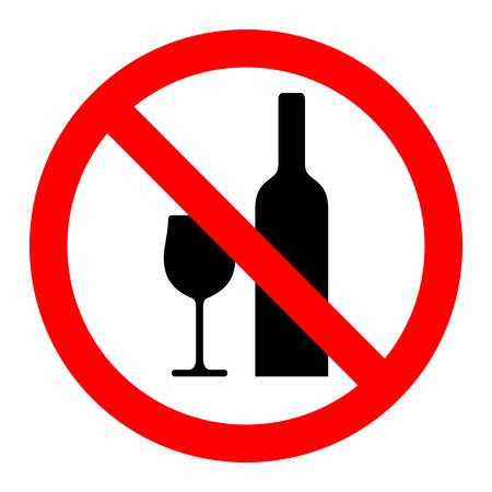 Geen drinken teken vector