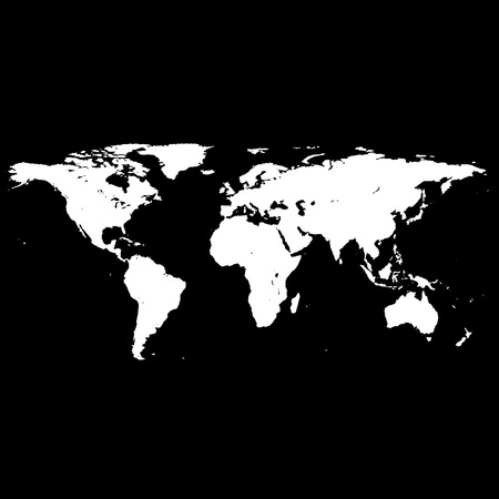 Black white world map royalty free cliparts vectors and stock white world map vector vector gumiabroncs Choice Image