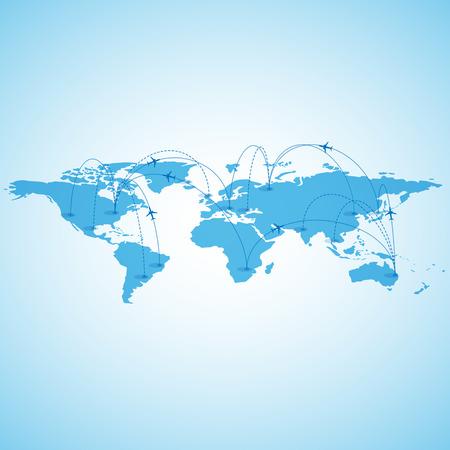 reizen wereldkaart Stock Illustratie