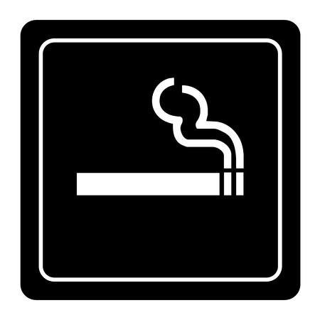 smoking area: Smoking area black labels vector