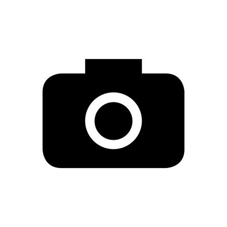 journalistic: Icone della fotocamera su sfondo bianco