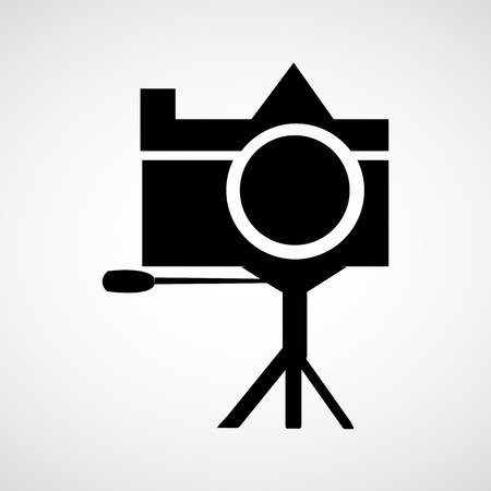 hand held: Photo camera icon sign Illustration
