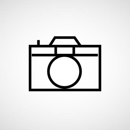 photo camera: Foto icona della fotocamera Vector