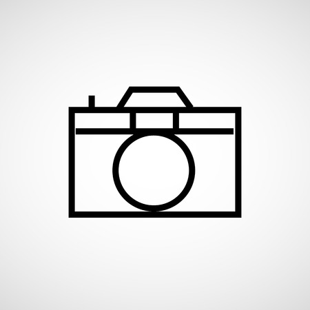 hand held: Photo camera icon vector