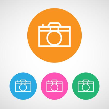 journalistic: Foto fotocamera icona colorata vettore
