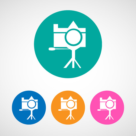 journalistic: Photo colorful camera icon vector