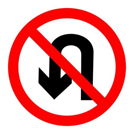 Kehrtwendung Sign Vektor