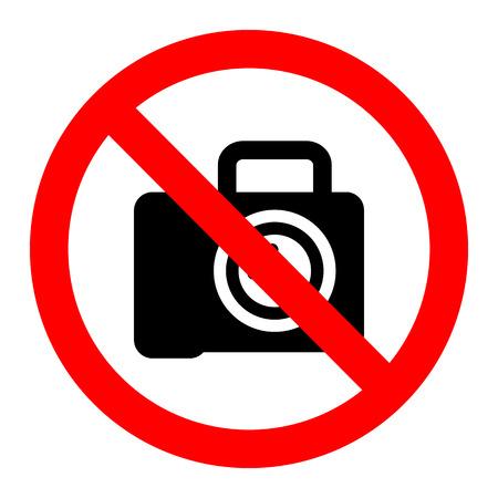 dslr: No cameara dslr sign label vector Illustration