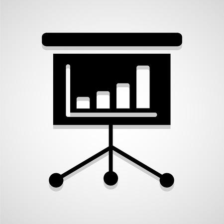 presentation screen: Black billboard with empty space Presentation screen vector