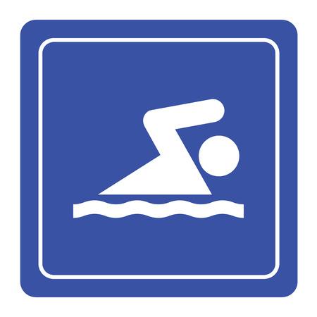 picto: Swimming icon sign vector
