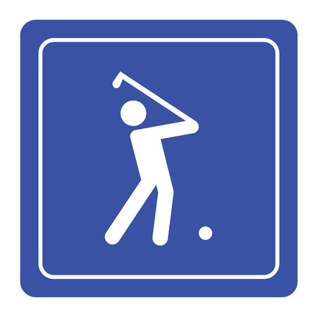 plays: Vector silhouette of a man plays golf Illustration