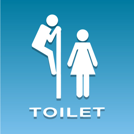toilet icons: A man and a lady toilet sign vector