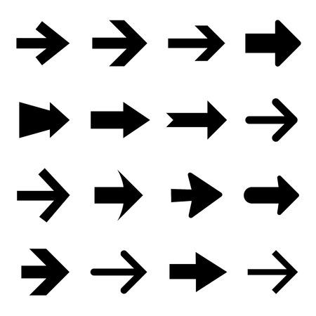 Pijl pictogram set vector en het pictogram