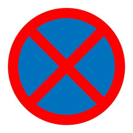 parking is prohibited: No parking traffic sign vector