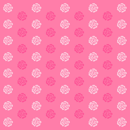 romance background: Elegance wallpaper with of pink roses on floral background Illustration