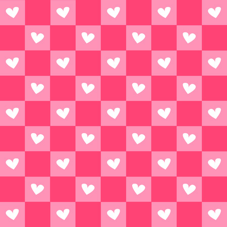 Hearts & Gingham Seamless Pattern.EPS10 file has pattern swatch that will seamlessly fill any shape.