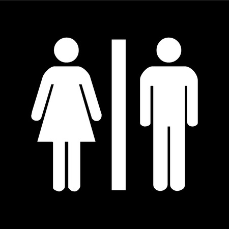 Man and lady toilet sign illustration