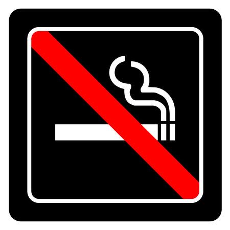 pernicious habit: No smoking sign vector on black background