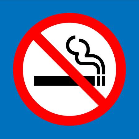 Niet roken teken vector