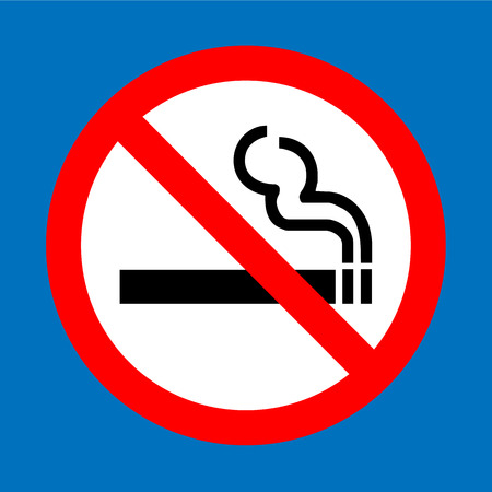 smoldering cigarette: No smoking sign vector Illustration