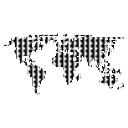 Dotted world map vector Vector