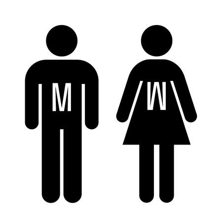 Mann und Frau Toilette Zeichen