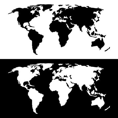 Black white world map royalty free cliparts vectors and stock world map black and white vector gumiabroncs Choice Image