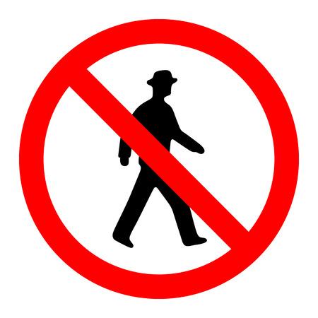 interdiction: Interdiction Non Pedestrain Connexion Vecteur