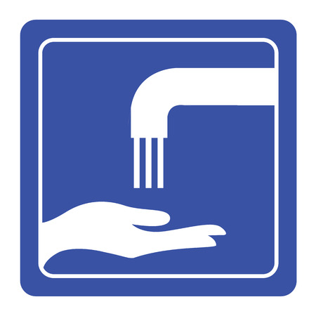please wash your hands icon: Please wash your hands sign vector