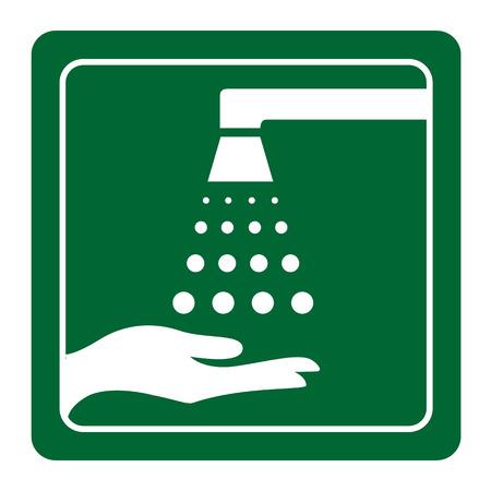 Gelieve uw handen wassen ondertekenen vector