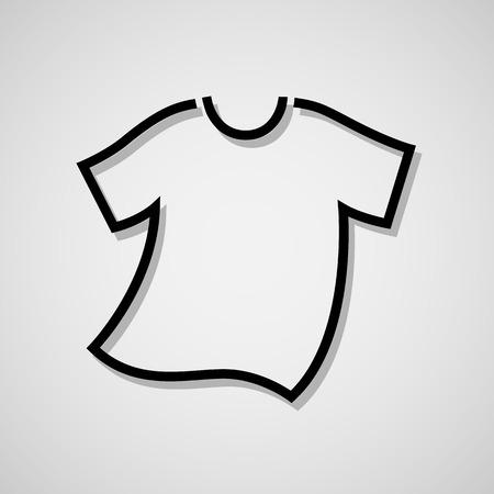Vector blanco camiseta en blanco icono de símbolo