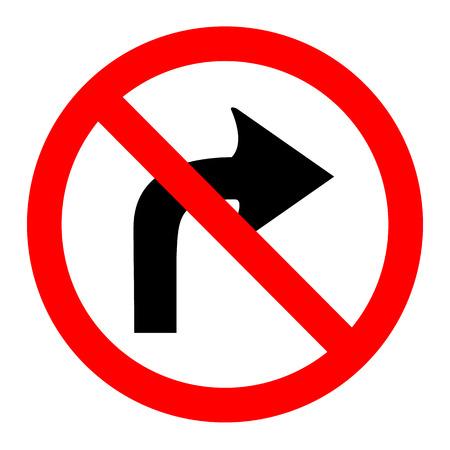 obedecer: ilustraci�n de ning�n derecho enciende signo redonda sobre fondo blanco