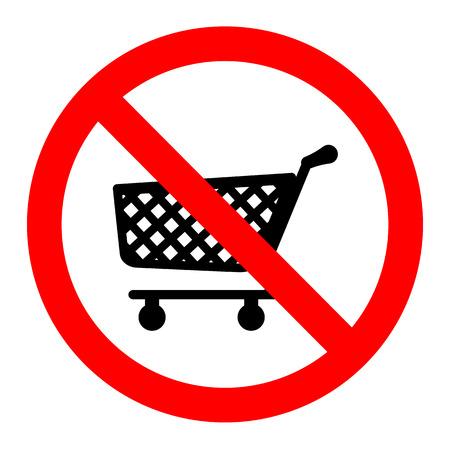 Kein Warenkörbe Symbol Vektor-