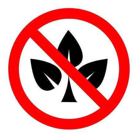 eco notice: Sign no trees vector