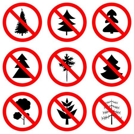 Sign no trees vector