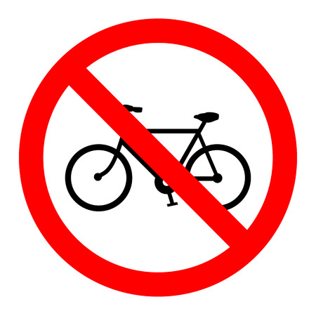 Vector sign no bicycle Vector