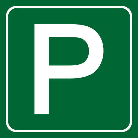 to place: Parking place sign vector