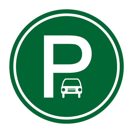 Car parking sign, vector illustration