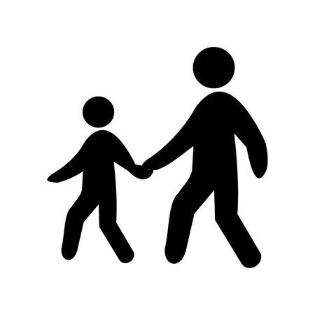 pedestrian walkway: Pedestrian symbol, vector
