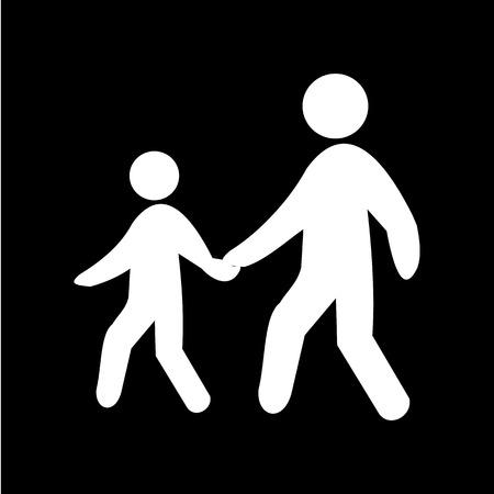 pedestrian: Pedestrian symbol, vector