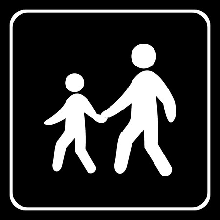 Warning traffic, Pedestrian traffic road sign Vector