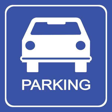 se�al parking: Se�al de aparcamiento de coches, ilustraci�n vectorial