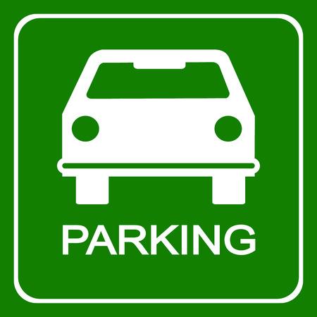 car parking: Car parking sign, vector illustration