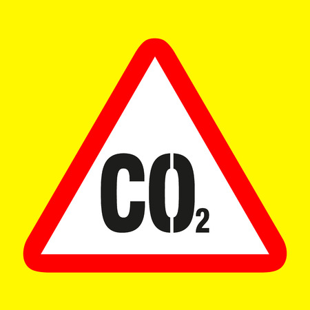 carbon dioxide: Carbon dioxide icon sign